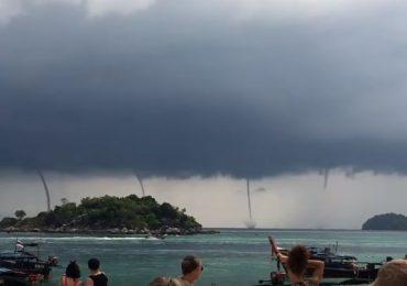 VIDEO : थायलंडच्या समुद्रात तब्बल चार चक्रीवादळं, लाटांचा थरार