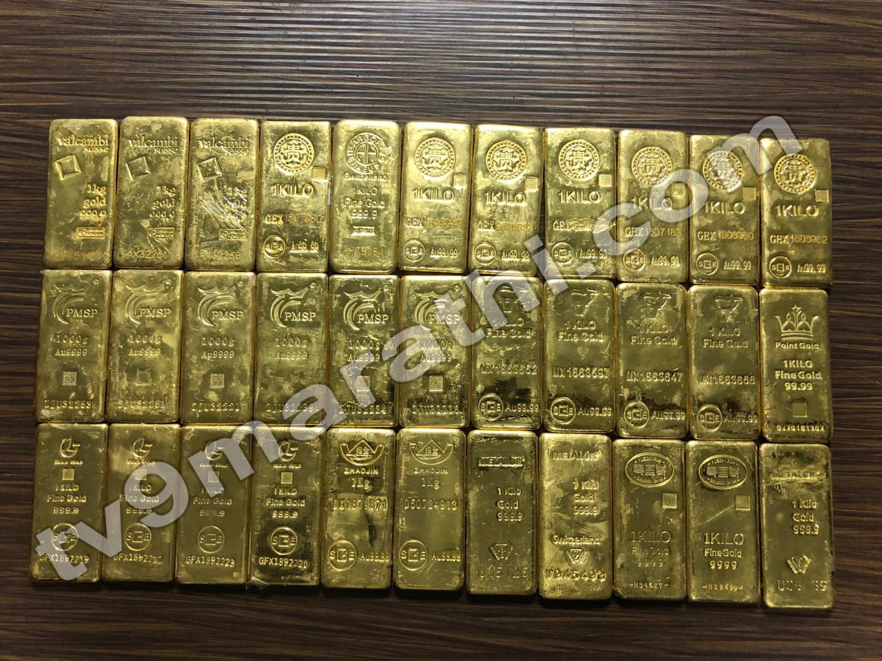 स्मगलिंगच्या मोठ्या रॅकेटचा पर्दाफाश, तब्बल 66 किलो सोनं जप्त