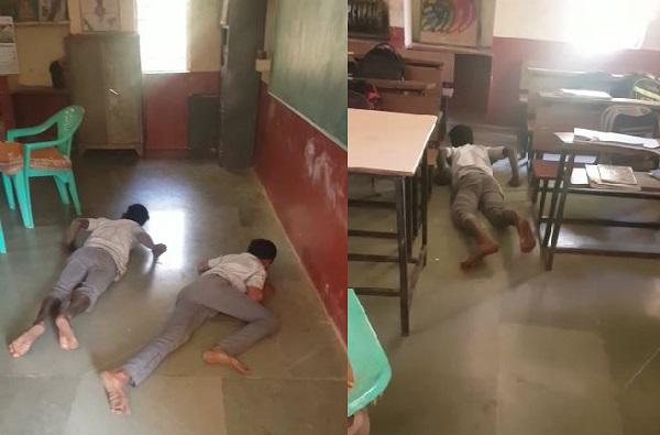 3 विद्यार्थी 15 दिवसांपासून सरपटत शाळेत, अन्य विद्यार्थ्यांमध्ये घबराट