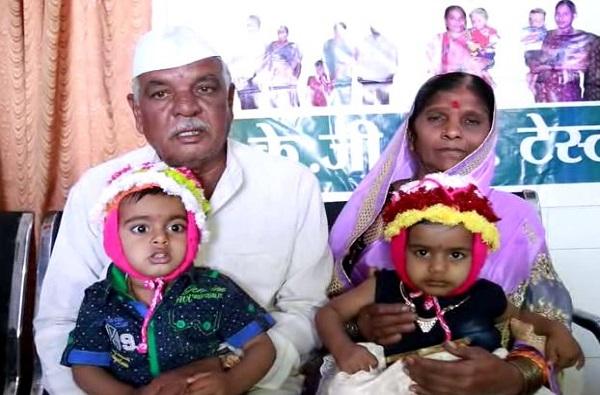 लातूरमध्ये महिलेला 60 व्या वर्षात जुळी मुलं
