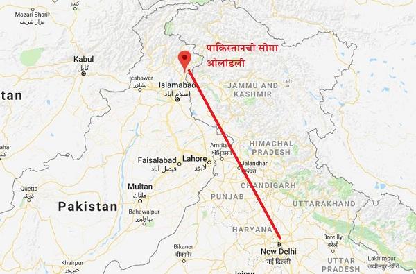 पीओके नाही, पाकिस्तानमध्ये घुसून मारलंय, नकाशावर पाहा