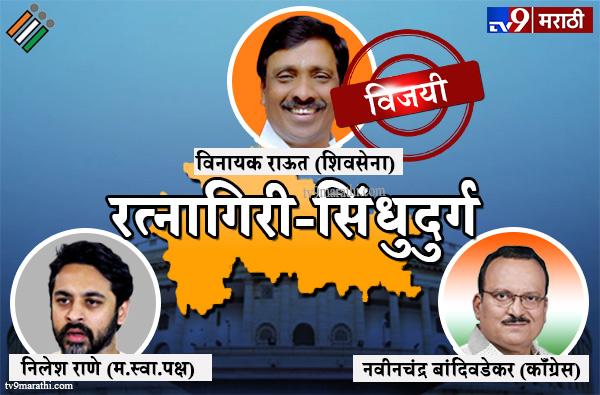 Ratnagiri-Sindhudurg Lok sabha result 2019 : रत्नागिरी सिंधुदुर्ग लोकसभा मतदारसंघ निकाल