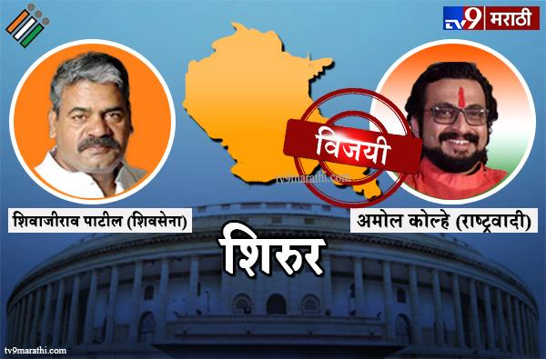 Shirur Lok sabha result 2019 : शिरुर लोकसभा मतदारसंघ निकाल