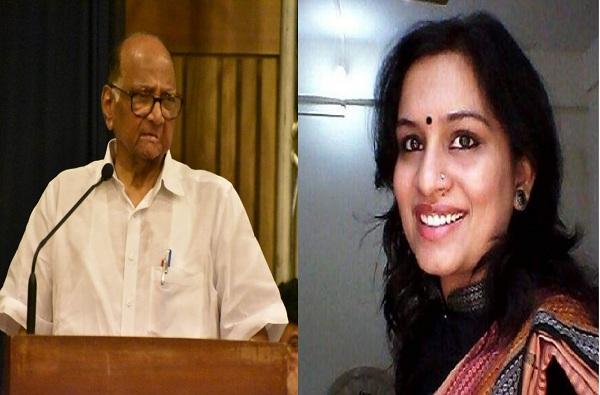 गांधीजींबद्दल वादग्रस्त ट्वीट : निधी चौधरींवर कडक कारवाई करा, शरद पवारांचे मुख्यमंत्र्यांना पत्र