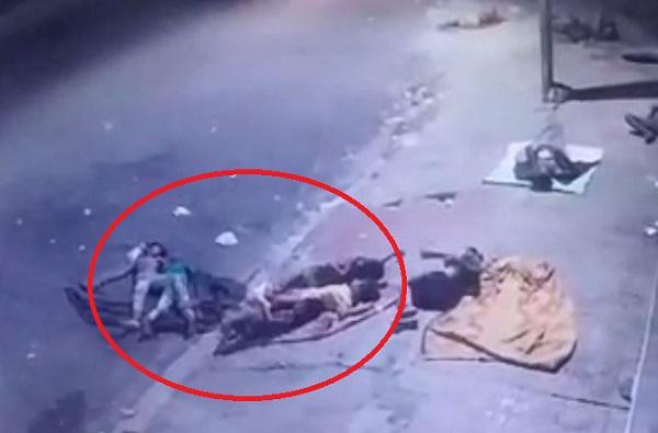 VIDEO: भरधाव गाडीनं फुटपाथवर झोपलेल्या मुलांना चिरडलं, तिघांचा जागीच मृत्यू