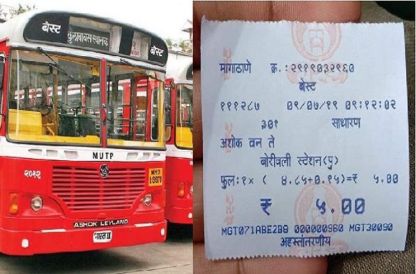मुंबईकरांचा 'बेस्ट' प्रवास आजपासून स्वस्त, बेस्टचे किमान तिकीट 8 रुपयांवरुन 5 रुपये
