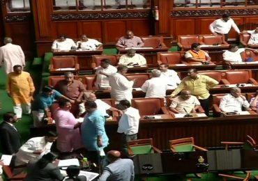 कर्नाटक विधानसभेचं कामकाज स्थगित, भाजपचे आमदार रात्रभर सभागृहातच झोपणार