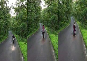 VIDEO : Tik Tokव्हिडीओचा नाद नडला, बाईकवर स्टंट करताना तोंडावर पडला