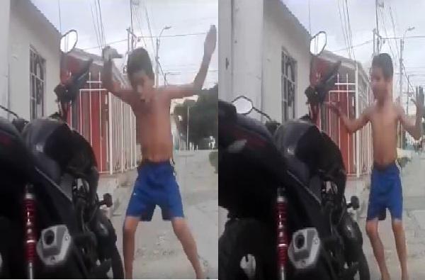 बाईक अलार्मच्या ठणाण्यावर तालबद्ध डान्स, या चिमुरड्याचा व्हिडीओ पाहिलात?