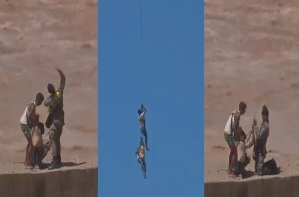 VIDEO : जम्मूतील तावी नदीत चार जण अडकले, बचावकार्यादरम्यान वायुदलाची दोरी तुटून दोघे पाण्यात पडले
