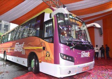 देशातील पहिली इलेक्ट्रीक बस एसटी महामंडळाच्या ताफ्यात दाखल