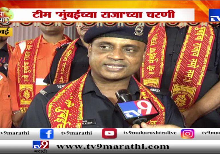 NDRF च्या टीमने मुंबईच्या राजाचं घेतलं दर्शन