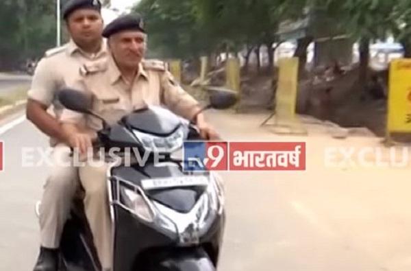 VIDEO : टीव्ही 9 ने नवीन वाहतूक नियम सांगितले, पोलिसानेच पळ काढला