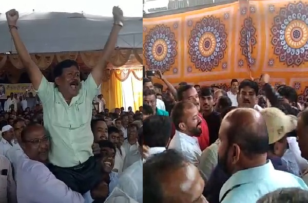 कोल्हापुरात 'बंटी विरुद्ध मुन्ना' वाद उफाळला, राजाराम साखर कारखान्याच्या सभेतच राडा