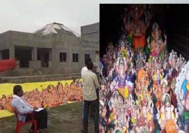 लातूरमध्ये पाण्याचं विघ्न, विसर्जनच नाही, मूर्ती महापालिकेकडे जमा