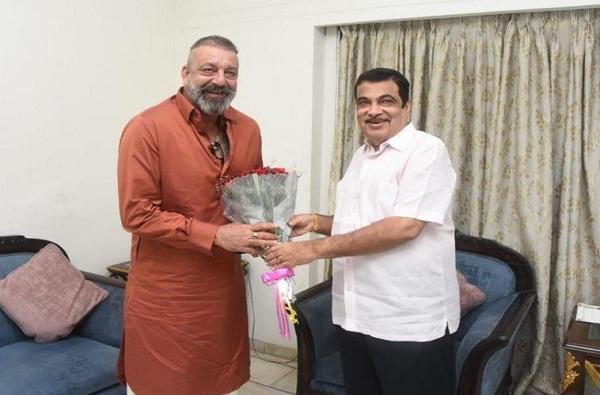 Sanjay Dutt Meets Nitin Gadkari