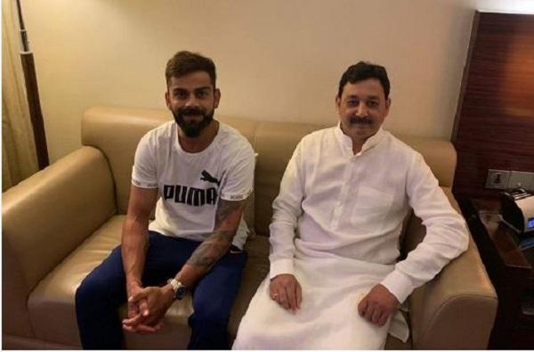 Virat Kohli meets Sambhajiraje