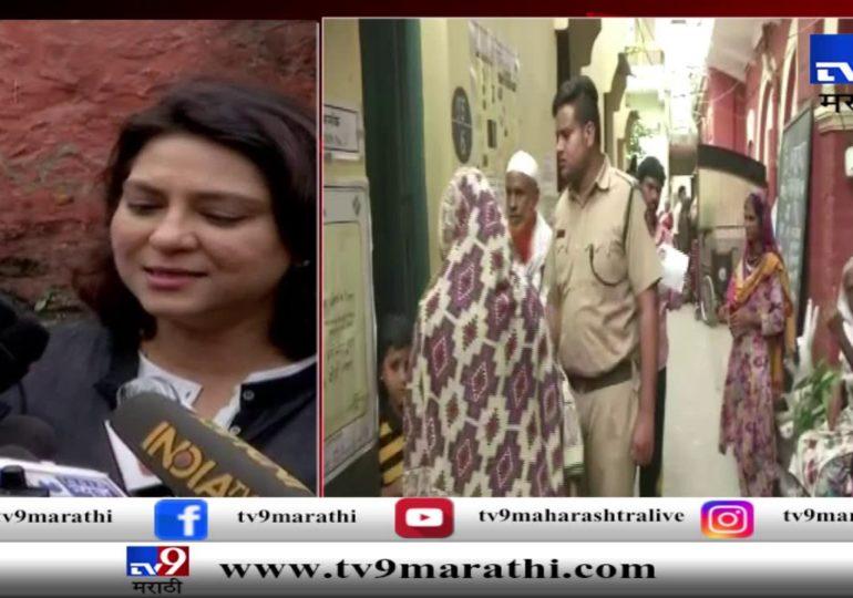 प्रिया दत्त यांनी मतदानाचा हक्क बजावला