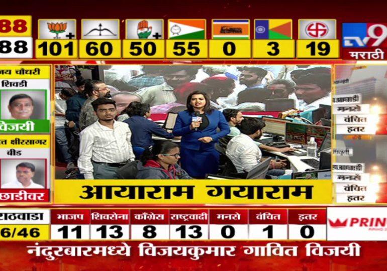 Maharashtra Assembly Polls Result 2019 : श्रीनिवास पाटील यांच्या विजयानंतर शरद पवार साताऱ्याकडे रवाना