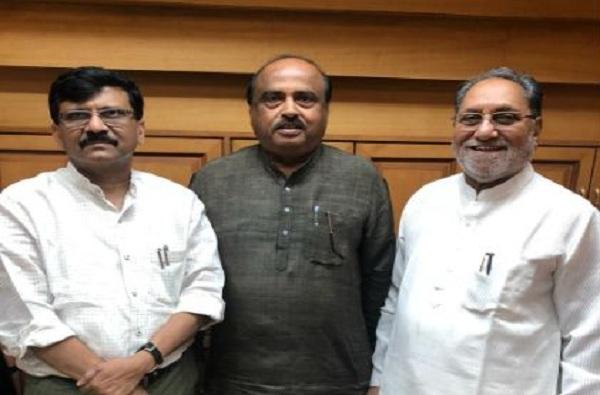 Husain Dalwai meets Sanjay Raut
