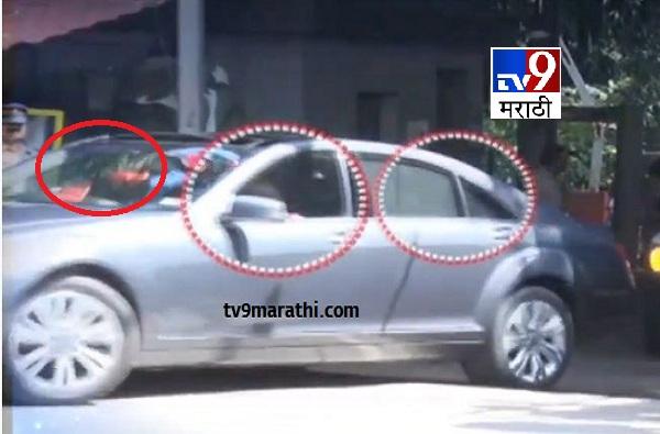 Uddhav Thackeray Drives Car