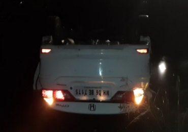रायगड येथे पोलीस निरीक्षकाची कार उलटून भीषण अपघात