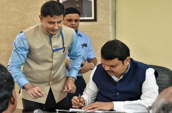 Devendra Fadnavis takes charge