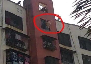 VIDEO : जॉब नसल्याने आठव्या मजल्यावरुन उडी घेत महिलेची आत्महत्या, थरकाप उडवणारा व्हिडीओ