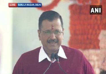 मैं शपथ लेता हू, अरविंद केजरीवालांना दिल्लीच्या मुख्यमंत्रिपदाची तिसऱ्यांदा शपथ