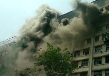 माझगावच्या जीएसटी भवनला भीषण आग, बैठक सोडून अजित पवार घटनास्थळी