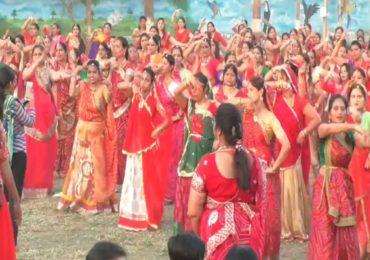 भिवंडीत राजस्थान दिनानिमित्त तब्बल 1200 महिलांचा घुमर डान्स