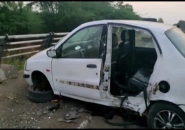 नाशिकमध्ये इंडिगो कारचा टायर फुटल्याने भीषण अपघात, मायलेकाचा मृत्यू