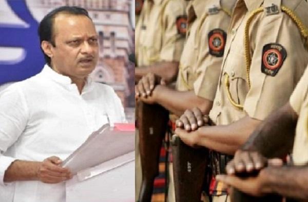 'कोरोना' लढ्यातील महाराष्ट्र पोलिसांना 50 लाखांचे कवच, अजित पवारांची मोठी घोषणा