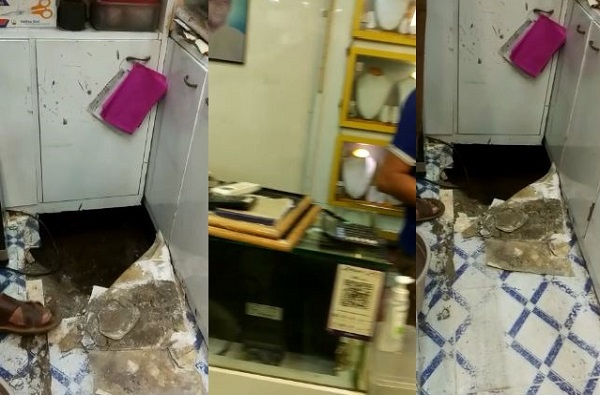 लॉकडाऊनदरम्यान ज्वेलर्ससमोर खड्डा खणला, खुदाई करत करत भुयार बनवून ज्वेलर्स लुटलं