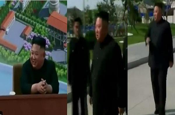 Kim Jong Un   किम जोंग उनची दणक्यात एण्ट्री, खत कारखान्याची फित कापून जगाला दर्शन