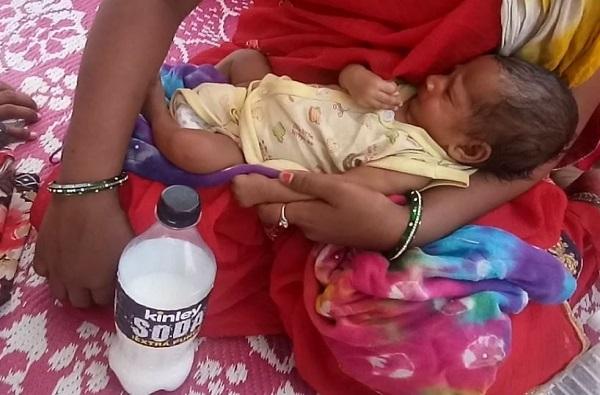 तान्ह्या बाळासाठी शहापूरची शिवसेना धावली, पहाटे 3 पासून अडकलेल्या उत्तर भारतीय चिमुरड्यासाठी दुधाची व्यवस्था