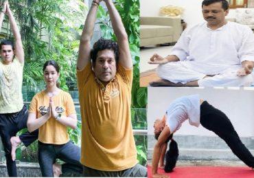International Yoga Day | नेते, अभिनेते ते क्रीडापटू, आंतरराष्ट्रीय योगदिनानिमित्त योगसाधना