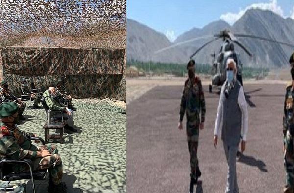 PHOTO | अख्खा देश सैन्याच्या पाठिशी, संदेश घेऊन मोदी थेट लेह-लडाखमध्ये