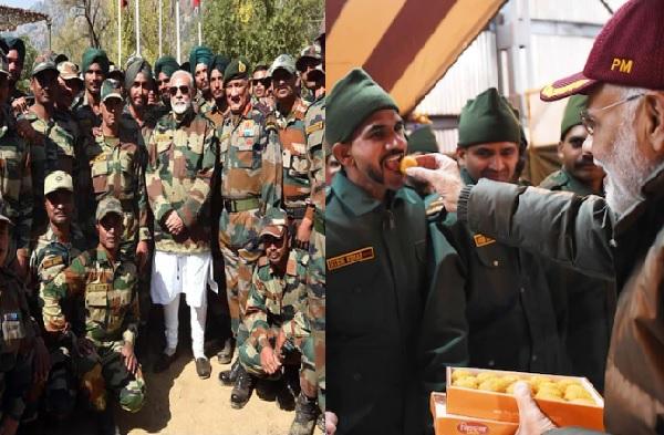 PM Modi in Leh | पंतप्रधान मोदींचा अचानक लेह दौरा, जवानांना सातवी 'सरप्राईझ' भेट