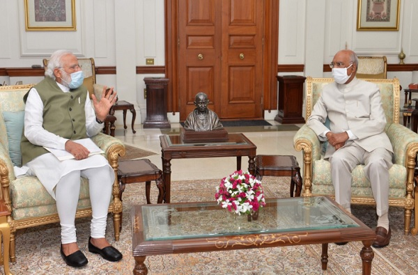रामनाथ कोविंद यांच्या भेटीला पंतप्रधान मोदी, राष्ट्रपती भवनात अर्धा तास चर्चा