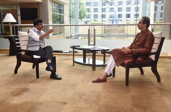 Uddhav Thackeray Interview | शरद पवारांनंतर आता संजय राऊतांचा उद्धव ठाकरेंशी 'सामना'