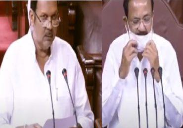 Udayanraje Rajyasabha MP Oath | इंग्रजीतून शपथ घेऊन उदयनराजे म्हणाले, जय भवानी, जय शिवाजी, सभापतींकडून समज
