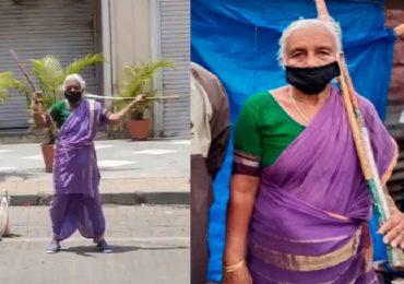 Shantabai Pawar | पुण्यातील आजीबाईंचा लाठ्याकाठ्यांचा खेळ, रितेशही म्हणाला 'लय भारी'