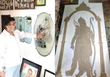अयोध्येतील मंदिरासाठी श्रीरामांची खास 10 फुटी ग्लास म्युरलची छबी, अहमदनगरच्या कलाकाराची विशेष कलाकृती