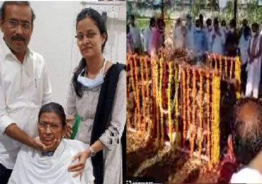 Sharada Tope | राजेश टोपेंच्या मातोश्री शारदा टोपे यांच्या पार्थिवावर जालन्यात अंत्यसंस्कार