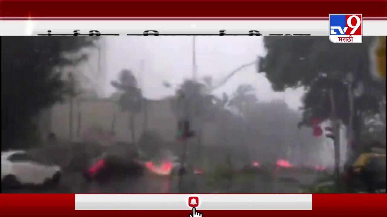 Mumbai Rain | मुंबईतील नरिमन लाईन्स परिसरातील झाड कोसळतानाची दृश्य