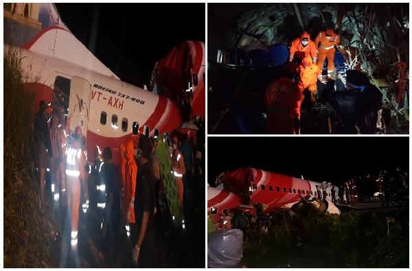Air India Plane Skids | केरळमध्ये एअर इंडियाचं विमान रन वेवरुन घसरलं, विमानाचे दोन तुकडे, 19 जणांचा मृत्यू
