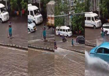 मुंबईच्या तुफानी पावसातील वॉरिअर, कांताबाईंचं प्रसंगावधान, सहा तास 'मॅनहोल'जवळ थांबून वाहतुकीचं नियंत्रण