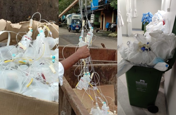 नवी मुंबईत जैविक कचऱ्याकडे दुर्लक्ष, डॉक्टरांच्या चेंजिंग रुमशेजारीच 5 दिवस कचरा पडून