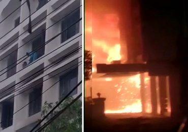 Andhra Pradesh Fire | कोव्हिड सेंटरमध्ये भीषण आग, कोरोनाग्रस्तांसह 11 जणांचा होरपळून मृत्यू